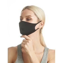 Маска из неопрена многоразовая, черная, размер S-M (1 шт.), С рисунком: Нет, Размер: S-M (окружность 48-55), Цвет маски: Чёрная, Тип товара: Многоразовая маска, фото , изображение 3