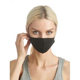 Маска из неопрена многоразовая, черная, размер S-M (1 шт.), С рисунком: без принта, Размер: S-M (окружность 48-55), Цвет маски: Чёрная, Тип товара: Многоразовая маска, фото