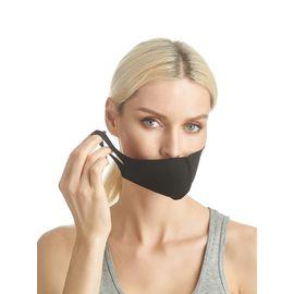 Маска из неопрена многоразовая, черная, размер S-M (1 шт.), С рисунком: Нет, Размер: S-M (окружность 48-55), Цвет маски: Чёрная, Тип товара: Многоразовая маска, фото , изображение 2