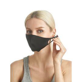 Маска из неопрена многоразовая, черная, размер S-M (1 шт.), С рисунком: Нет, Размер: S-M (окружность 48-55), Цвет маски: Чёрная, Тип товара: Многоразовая маска, фото , изображение 5