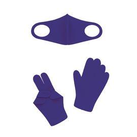 Набор детский - маска, перчатки (6-12 лет), синий, Тип товара: Защитный набор, Цвет маски: Синяя, фото
