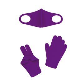 Набор детский - маска, перчатки (6-12 лет), фиолетовый, Тип товара: Защитный набор, Цвет маски: Фиолетовая, фото