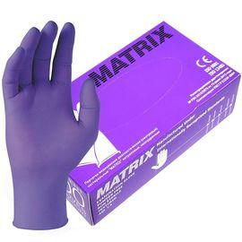 Перчатки одноразовые нитриловые Matrix Gloves ФИОЛЕТОВЫЕ СВЕРХПРОЧНЫЕ , 50 пар./100 шт., фото