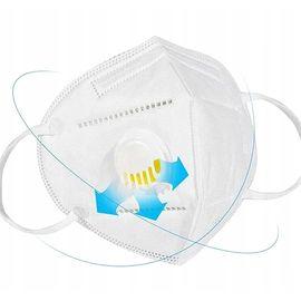 Респиратор - маска медицинская KN95 FFP2 с клапаном защиты, 5 слоев, РУ, 1 шт., фото , изображение 4