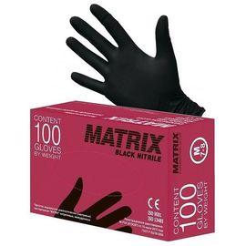 Перчатки одноразовые нитриловые Matrix Gloves чёрные M, 50 пар (100 шт.), Размер: M, Цвет: Чёрный, фото