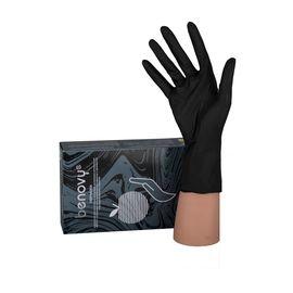 Перчатки BENOVY нитриловые ЧЕРНЫЕ н/о S (100 шт.), Размер: S, Цвет перчаток: Черный, Тип товара: Одноразовые перчатки, фото , изображение 2