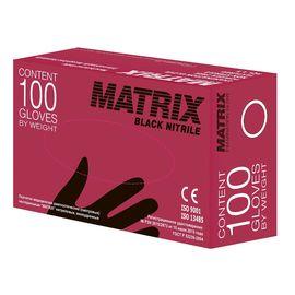 Перчатки одноразовые нитриловые Matrix Gloves чёрные XL, 50 пар (100 шт.), Размер: XL, Цвет: Чёрный, фото