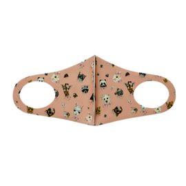 Детская текстильная маска (животный мир), С рисунком: Да, Размер: детский (6-12 лет), Цвет маски: Бежевая, Тип товара: Многоразовая маска, фото