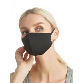 Маска из неопрена многоразовая, черная, размер L-XL (1 шт.), С рисунком: Нет, Размер: L-XL (окружность 55-63), Цвет маски: Чёрная, Тип товара: Многоразовая маска, фото
