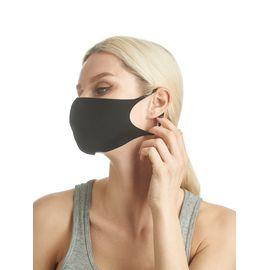 Маска из неопрена многоразовая с логотипом, черная, размер L-XL (1 шт.), С рисунком: Да, Размер: L-XL (окружность 55-63), Цвет маски: Чёрная, Тип товара: Многоразовая маска, фото , изображение 2