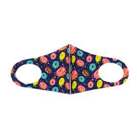 Детская текстильная маска (пончики), С рисунком: с принтом, Размер: детский (6-12 лет), Цвет маски: Цветная, Тип товара: Многоразовая маска, фото