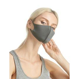 Маска из неопрена многоразовая, серая, размер L-XL (1 шт.), С рисунком: без принта, Размер: L-XL (окружность 55-63), Цвет маски: Серая, Тип товара: Многоразовая маска, фото