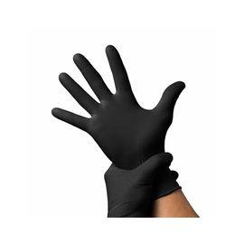 Перчатки BENOVY нитриловые ЧЕРНЫЕ н/о M (100 шт.), Размер: M, Цвет перчаток: Черный, Тип товара: Одноразовые перчатки, фото , изображение 2