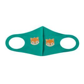 Детская многоразовая маска с принтом, зеленая, С рисунком: Да, Размер: детский (6-12 лет), Цвет маски: Зелёная, Тип товара: Многоразовая маска, фото