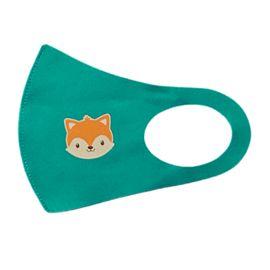 Детская многоразовая маска с принтом, зеленая, С рисунком: Да, Размер: детский (6-12 лет), Цвет маски: Зелёная, Тип товара: Многоразовая маска, фото , изображение 2