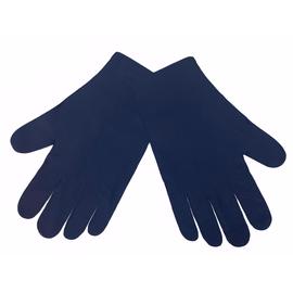 Перчатки тканевые тонкие, темно-синие, размер S (1 пара), Размер: S, Цвет перчаток: Темно-синий, Тип товара: Перчатки тканевые, фото
