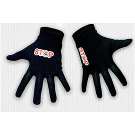 Перчатки хлопковые защитные с логотипом, чёрные, размер S, Размер: S, Цвет перчаток: Черный, фото