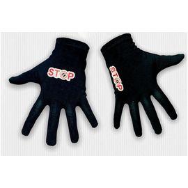 Перчатки хлопковые защитные с логотипом, чёрные, размер L, Размер: L, Цвет перчаток: Черный, фото