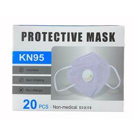 Маска защитная (респиратор) 3D MASK (Стандарт GB2626-2006 KN95) с клапаном защиты, 5 слоев, 20 шт./уп., фото