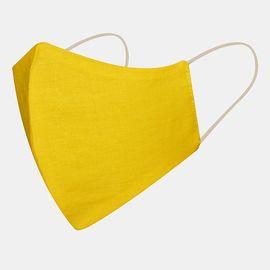 Маска многоразовая защитная из 100% хлопка на резинках, жёлтая, Цвет маски: Жёлтая, Тип товара: Многоразовая маска, фото