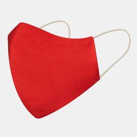 Маска многоразовая защитная из 100% хлопка на резинках, красная, Цвет маски: Красная, Тип товара: Многоразовая маска, фото