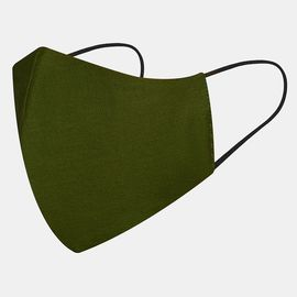 Маска многоразовая защитная из 100% хлопка на резинках, хаки, Цвет маски: Хаки, Тип товара: Многоразовая маска, фото