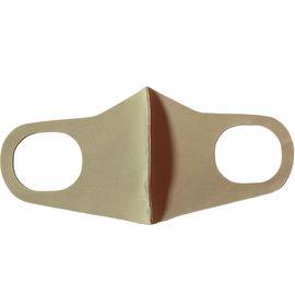 Маска из неопрена многоразовая, бежевая, размер S-M (1 шт.), С рисунком: без принта, Размер: S-M (окружность 48-55), Цвет маски: Бежевая, Тип товара: Многоразовая маска, фото