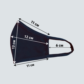 Маска многоразовая защитная тканевая, чёрная, фото , изображение 4