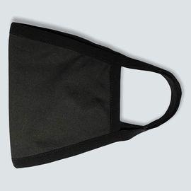 Маска многоразовая защитная тканевая, чёрная БЕЗ ШВА, фото , изображение 2