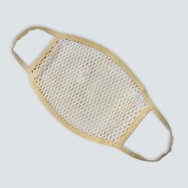 Маска защитная из сетки, бежевая, Размер: L-XL (окружность 55-63), Цвет маски: Бежевая, Тип товара: Сетчатая маска, фото