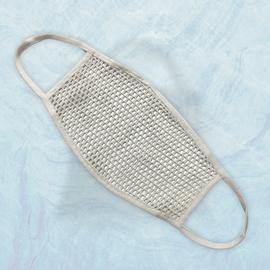 Маска защитная из сетки, белая, Размер: L-XL (окружность 55-63), Цвет маски: Белая, Тип товара: Сетчатая маска, фото