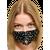 Маска защитная со стразами многоразовая, черная, С рисунком: Нет, Размер: S-M (окружность 48-55), Цвет маски: Чёрная, Цвет страз: Белый, Тип товара: Многоразовая маска, фото
