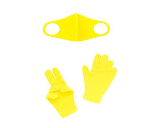 Набор детский - маска, перчатки (6-12 лет), желтый, Тип товара: Защитный набор, Цвет маски: Жёлтая, фото