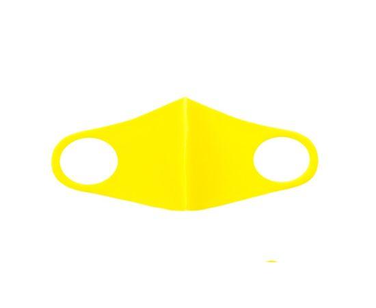 Детская многоразовая маска из неопрена, желтая, С рисунком: без принта, Размер: детский (6-12 лет), Цвет маски: Жёлтая, Тип товара: Многоразовая маска, фото