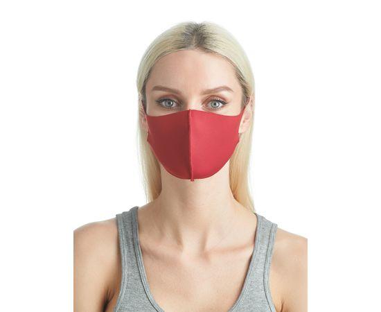 Маска из неопрена многоразовая, красная (1 шт.), С рисунком: без принта, Размер: S-M (окружность 48-55), Цвет маски: Красная, Тип товара: Многоразовая маска, фото , изображение 4