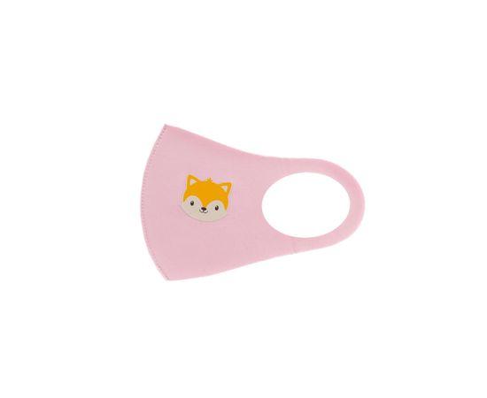 Детская многоразовая маска с принтом, розовая, С рисунком: с принтом, Размер: детский (6-12 лет), Цвет маски: Розовая, Тип товара: Многоразовая маска, фото , изображение 2