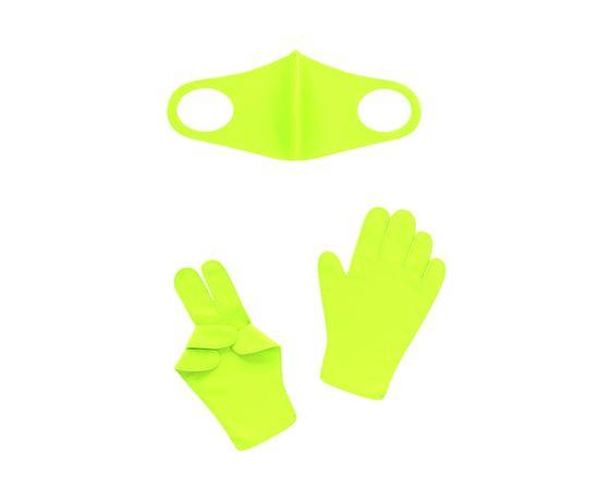 Набор детский - маска, перчатки (6-12 лет), салатовый, Тип товара: Защитный набор, Цвет маски: Салатовая, фото