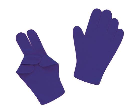 Перчатки детские тканевые тонкие, синие, Размер: для детей от 6 до 12 лет, Цвет перчаток: Синий, Тип товара: Перчатки тканевые, фото
