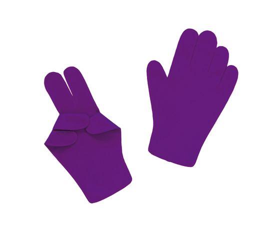 Перчатки детские тканевые тонкие, фиолетовые, Размер: для детей от 6 до 12 лет, Цвет перчаток: Фиолетовый, Тип товара: Перчатки тканевые, фото
