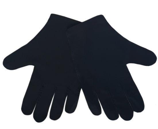 Перчатки тканевые тонкие, черные, размер M (1 пара), Размер: M, Цвет перчаток: Черный, Тип товара: Перчатки тканевые, фото