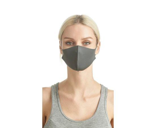 Маска из неопрена многоразовая, серая, размер S-M (1 шт.), С рисунком: без принта, Размер: S-M (окружность 48-55), Цвет маски: Серая, Тип товара: Многоразовая маска, фото , изображение 2