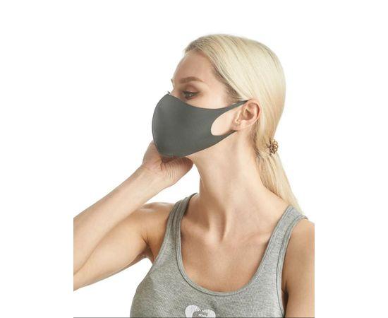 Маска из неопрена многоразовая, серая, размер S-M (1 шт.), С рисунком: без принта, Размер: S-M (окружность 48-55), Цвет маски: Серая, Тип товара: Многоразовая маска, фото , изображение 3