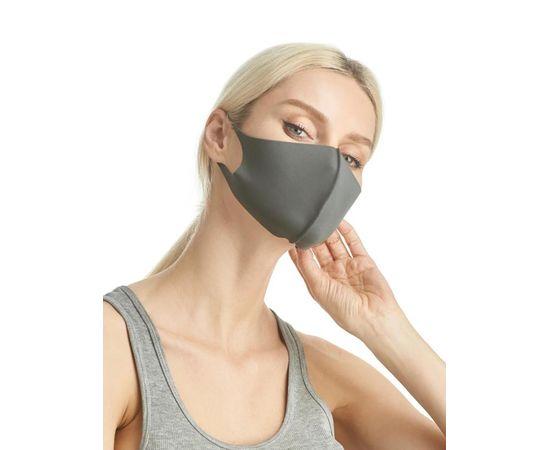 Маска из неопрена многоразовая, серая, размер S-M (1 шт.), С рисунком: без принта, Размер: S-M (окружность 48-55), Цвет маски: Серая, Тип товара: Многоразовая маска, фото
