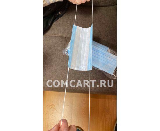 """Маска медицинская """"Стандарт"""" 3-х слойная одноразовая 50 шт. с РУ, фото , изображение 4"""