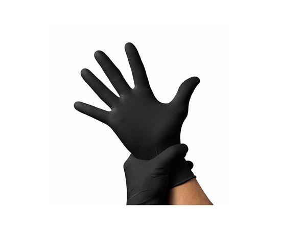 Перчатки BENOVY нитриловые ЧЕРНЫЕ н/о L (100 шт.), Размер: L, Цвет перчаток: Черный, Тип товара: Одноразовые перчатки, фото , изображение 2