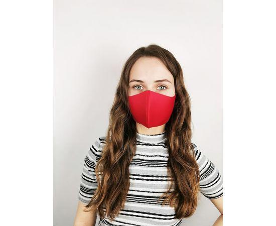 Маска многоразовая для лица из неопрена (красная), фото 1