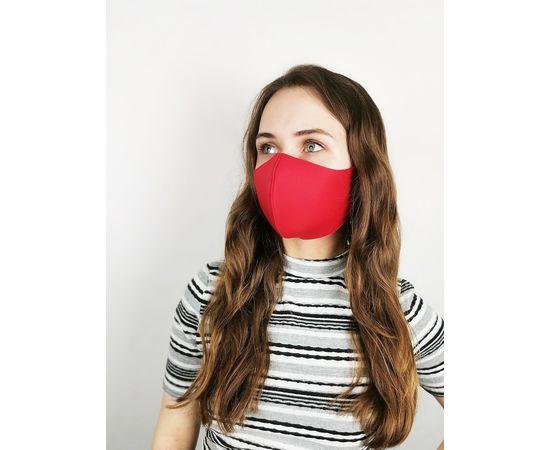Маска многоразовая для лица из неопрена (красная), фото 2