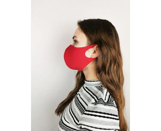 Маска многоразовая для лица из неопрена (красная), фото 3