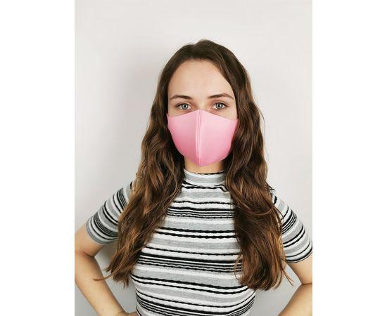Маска многоразовая для лица из неопрена (розовая), фото 1