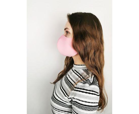 Маска многоразовая для лица из неопрена (розовая), фото 3
